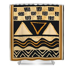 African Memories Shower Curtain by Vagabond Folk Art - Virginia Vivier