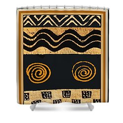African Primordial Spirits - 2 Shower Curtain by Vagabond Folk Art - Virginia Vivier