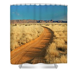 African Sand Road Shower Curtain