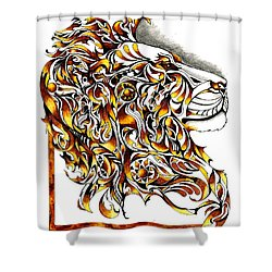 African Spirit Shower Curtain by Sherry Shipley