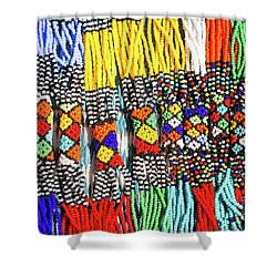 African Tribal Necklaces Shower Curtain