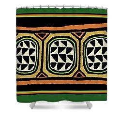 Shower Curtain featuring the digital art African Tribal Textile by Vagabond Folk Art - Virginia Vivier