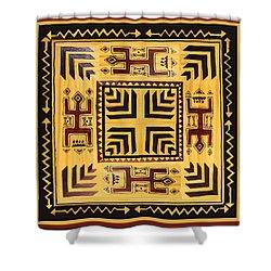 Shower Curtain featuring the digital art African Tribal Spirits by Vagabond Folk Art - Virginia Vivier