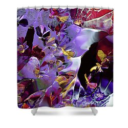 African Violet Awake #2 Shower Curtain
