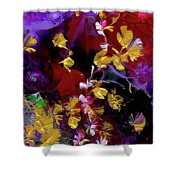 African Violet Awake #3 Shower Curtain