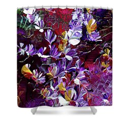 African Violet Awake #4 Shower Curtain