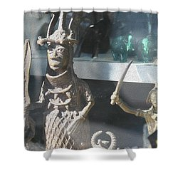African Warrior Figurine Shower Curtain