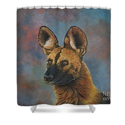 African Painted Wild Dog Shower Curtain