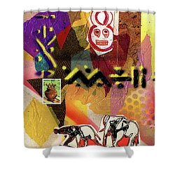 Afro Collage - O Shower Curtain by Everett Spruill