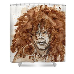 Afrocentric Shower Curtain by Howard Barry