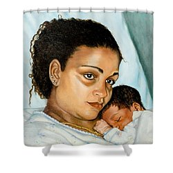 After Birth Jacina And Javon Shower Curtain