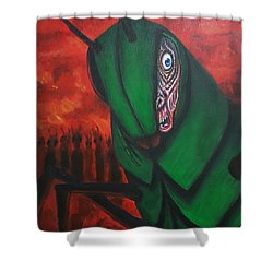 After Bob Died He Realized He Had Made Poor Life Choices. Shower Curtain
