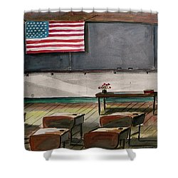 Shower Curtain featuring the painting After Class by John Williams