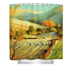 Shower Curtain featuring the painting After Harvest by Steve Henderson
