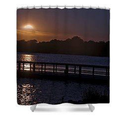 Shower Curtain featuring the photograph After Hours by Deborah Klubertanz