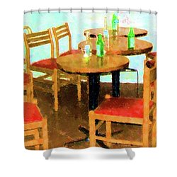 After Party Shower Curtain by Debbi Granruth