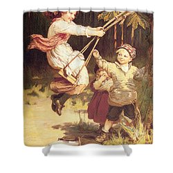 After School Shower Curtain by Frederick Morgan