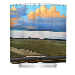After Shower Shower Curtain