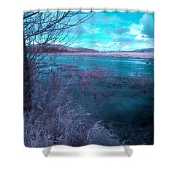 Shower Curtain featuring the photograph After Storm Surrealism by Chriss Pagani