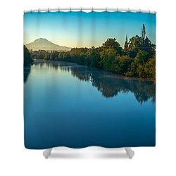 After Sunrise Shower Curtain by Ken Stanback
