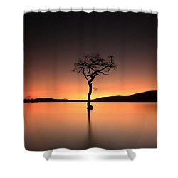 Shower Curtain featuring the photograph After Sunset by Grant Glendinning