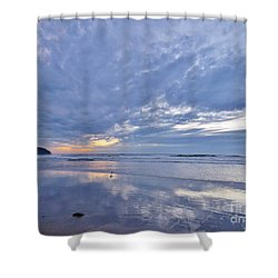 Moonlight After Sunset Shower Curtain by Michele Penner