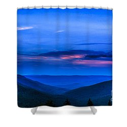 After Sunset Shower Curtain by Thomas R Fletcher