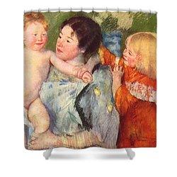 After The Bath Shower Curtain by Cassatt