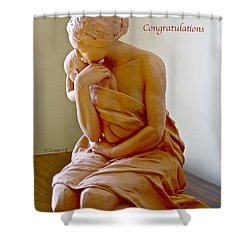 After The Bath Congratulations Shower Curtain