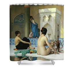 After The Bath, Jean Leon Gerome Shower Curtain
