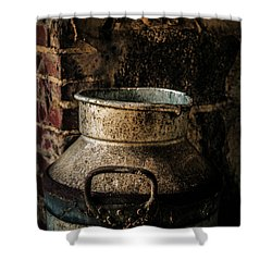 Shower Curtain featuring the photograph After The Cows Have Gone by Odd Jeppesen