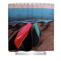 Shower Curtain featuring the painting After The Crossing by Kenneth M Kirsch