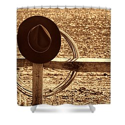After The Drive Shower Curtain by American West Legend By Olivier Le Queinec