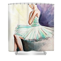 After The Performance Shower Curtain by Elizabeth Robinette Tyndall