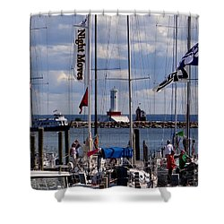 After The Race Shower Curtain by Keith Stokes