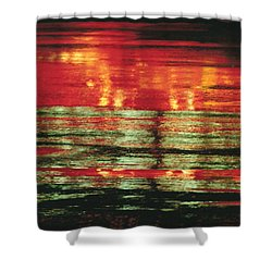 After The Rain Abstract 1 Shower Curtain by Tony Cordoza