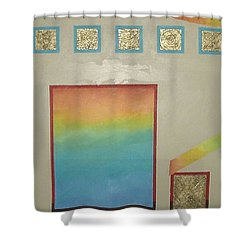 Shower Curtain featuring the painting After The Rain by Bernard Goodman