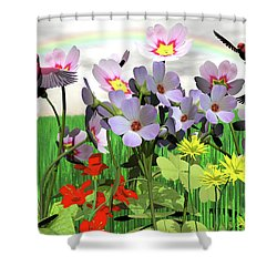 After The Rain Comes The Rainbow Shower Curtain