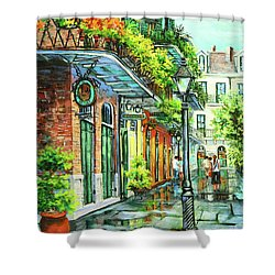 After The Rain Shower Curtain by Dianne Parks
