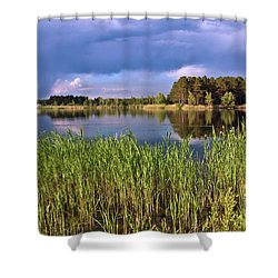 After The Rain Poetry Shower Curtain