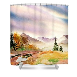 Shower Curtain featuring the painting After The Rain by Teresa Ascone