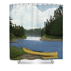 After The Rapids Shower Curtain