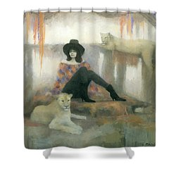 After The Show Shower Curtain by Steve Mitchell
