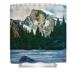 After The Snowfall, Yosemite Shower Curtain by Douglas Castleman