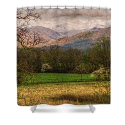 After The Spring Rain Shower Curtain by Rebecca Hiatt