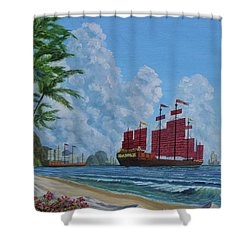 Shower Curtain featuring the painting After The Storm by Anthony Lyon
