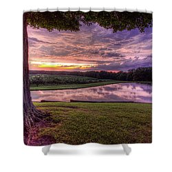 After The Storm At Mapleside Farms Shower Curtain