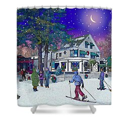 After The Storm At Woodstock Inn Shower Curtain