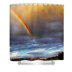 After The Storm El Valle New Mexico Shower Curtain