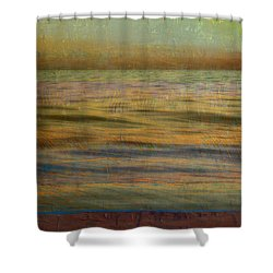 Shower Curtain featuring the photograph After The Sunset - Teal Sky by Michelle Calkins